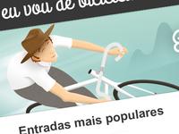 Eu vou de bicicleta