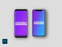 Free iPhone X and Galaxy S9 Mock Up