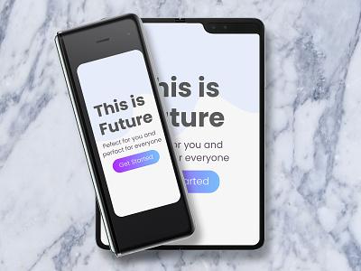 Samsung Galaxy Fold Mockup full folded tab tablet phone smartphone photo realistic presentation display ui app web psd mockup fold galaxy samsung