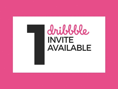 1 Dribbble Invite Available giveaway giving away inviting free dribbble invite dribbble invitation new dribbbler dribbble invite