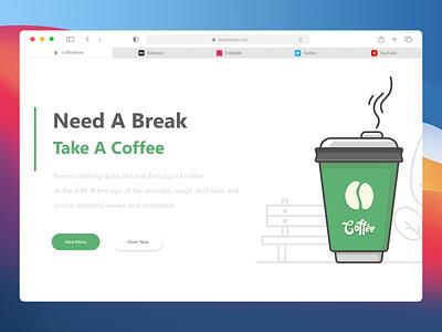 Coffee Website Inspiration website concept website design icon ux branding logo letonation vector website ui illustration clean art