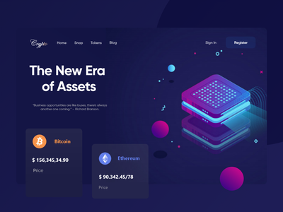 Crypto currency Landing Page web branding typography art clean logo website concept web design website design webdesign illustration website letonation