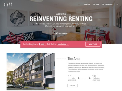 Reinventing Renting website home page property real estate rental