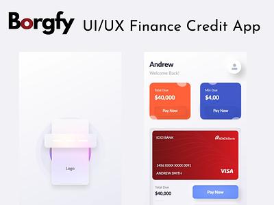 Borgfy typography startup borgfy london germany usa crypto fintech finance app adobexd uiux design