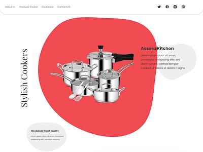 Kitchenware Web UI motion graphics borgfy 3d design branding illustration uiux kitchen website ui website ui ui