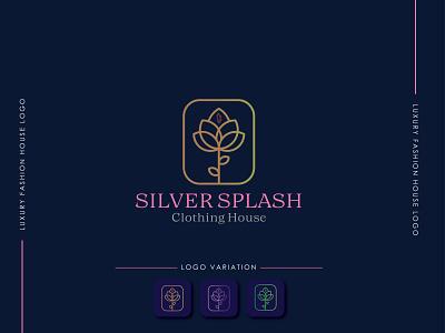 Sliver Splash logo   Clothing House Logo illustrator logo design web minimal graphic design illustration icon flat branding