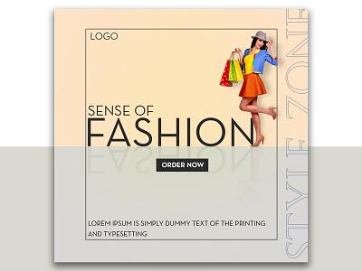 Social Media Banner Design | Fashion Banner Ad Design simple flat advertisment social media design social media graphic design design branding