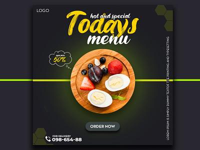 Food Social Media Banner Design  Ad Design For Facebook graphicdesign food banner banner ad design social media food ad design food ad design food delivery graphic design branding