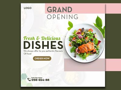 Food Banner Design  Facebook Banner Ad Design minimal advertisment social media design social media food ad design design graphic design branding
