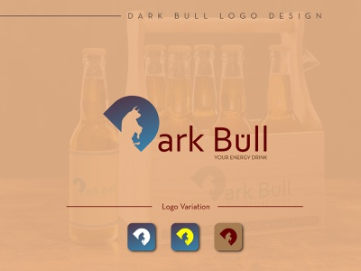 Dark Bull Logo Design| Energy Drink Logo Design logo design enegy drink enegy drink typography minimal flat vector illustration logo design graphic design branding