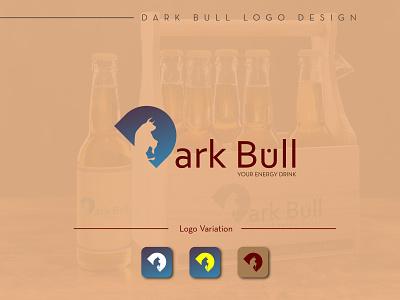 Dark Bull Logo Design| Energy Drink Logo Design logo design enegy drink enegy drink typography minimal flat vector illustration logo design graphic design branding