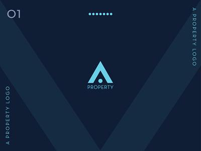 A Property Logo    Builders Logo    Flat Logo Design logo design advertisment graphic design web vector logo minimal flat design branding