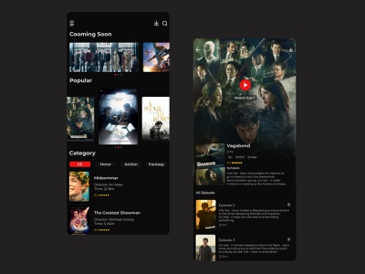 Movie Mobile App movieapp movie branding uiux ui mobile design app
