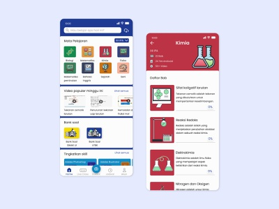 Homepage learning study material mobileapp course homepage branding uiux ui mobile design app