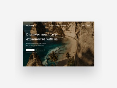 Travel Landing Page travelweb holiday travel website landingpage web ux uiux ui design app