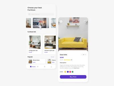 Furniture Mobile App furnitureapp mobileapp furniture ux ui mobile uiux design app
