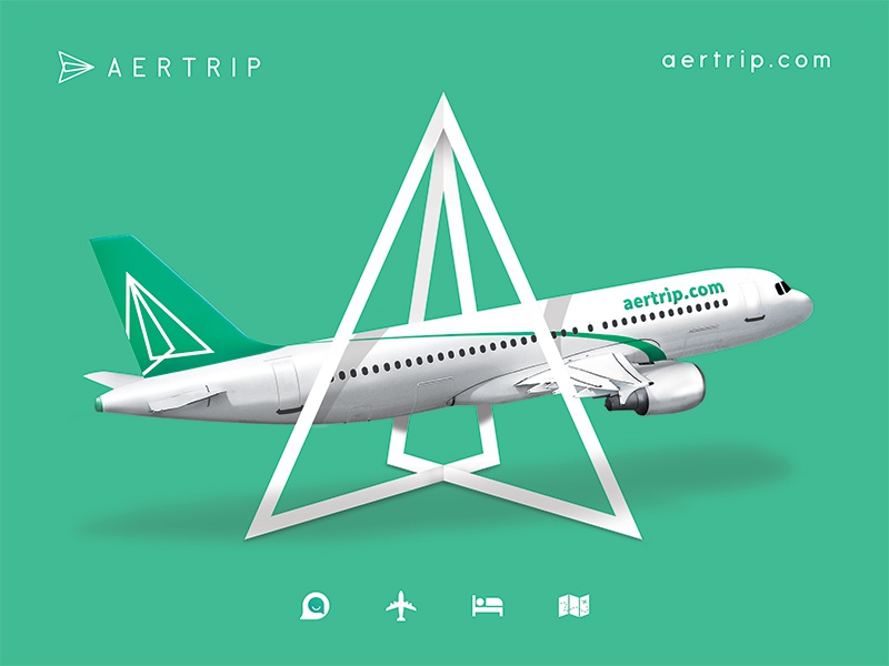 Aertrip poster design logo exploration flight travel graphic design poster banner aertrip