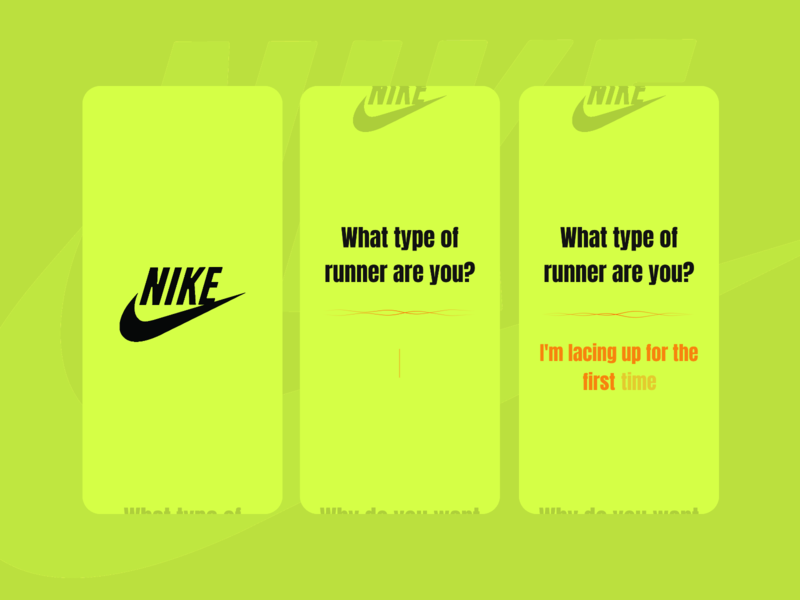 Nike App form design userinterfaces userinterface ux ui design uipractice design designinspirations appdesign dailyui 001
