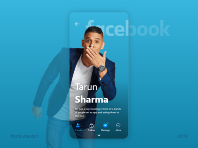 Profile page for Facebook app