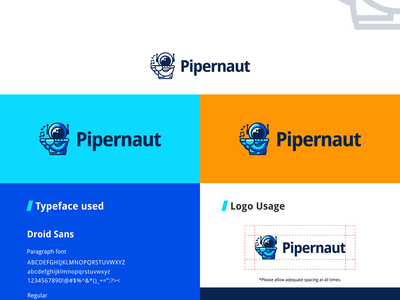 Pipernaut Logo Shot flute space logo pipernaut piper astronaut