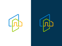 Colorful home logo concept - Monoline