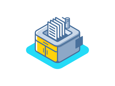 Software Libraries outline icon design flat isometric illustration
