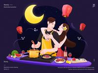 Tanabata Festival theme illustration