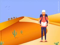 Practice - traveler in the desert