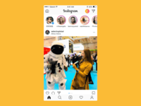 Instagram Scroll Animation practice