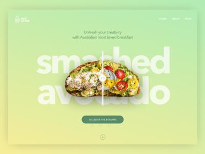 Daily UI #003 Landing Page - Smashed Avocado