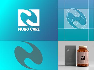 NuroCare Logo for a Medical Company medical care n letter n logo