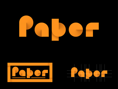 Paper customtype lettering orange abstract logo lettermark lettering typography custom lettering customtype logo logos paper logo