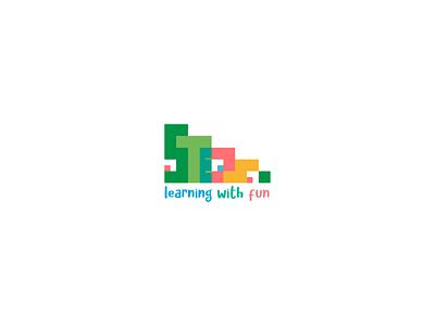 Steps Kindergarten logo education logo learning learning platform logodesign modern logo kids logo icon logos kindergarten steps steps logo logotype iconic logo customtype logo