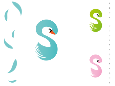 Swan and Letter S logo negativespace negative logo negative space logo minimalist modern logo letter s logo abstract logo bird logo design logos logo bird logo swan logo swan