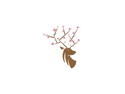 Deer deer nature abstract logo logos logo deer logo