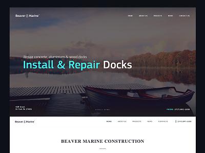 Beaver Marine Construction [Website] website art web design» interactive design ui ux site creative homepage marine