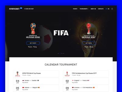 Main page in progress minimal prototyping interface website design fifa sport football ux ui web web design