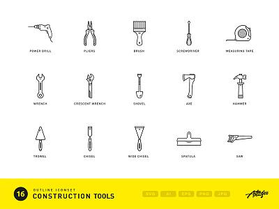 Construction tools (iconset) icon icons fix repair repair icons fix tools outline outline icons building icons building tools construction