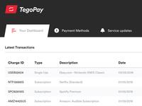 TegoPay - Dashboard