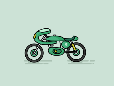 Vintage Motorcycle caferacer motorcycle illustation