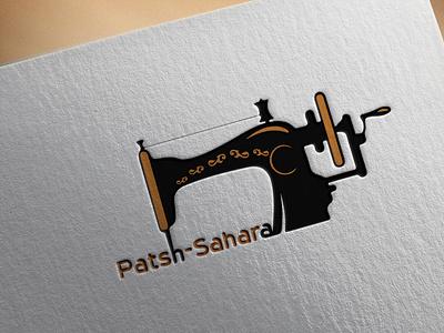 Patsh Sahara logo minimal logo flat vector logos typography branding gorgeous logodesign tailoring patsh sahara logo patsh sahara tailor logo