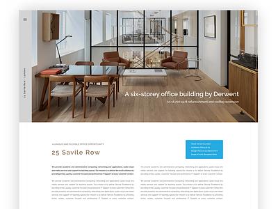25 Savile Row webpage minimal clean design page home