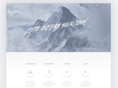RebelWeb minimal clean design webpage page home