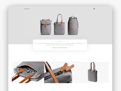 Insignian minimal clean design webpage page home