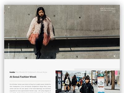 Seoul Fashion Week minimal clean design webpage page home