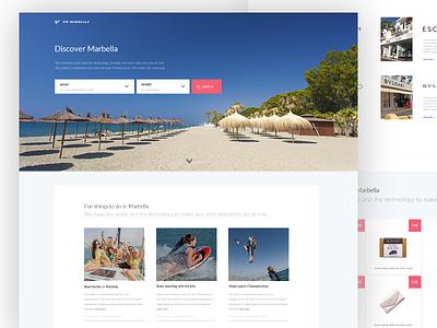 VIP Marbella minimal clean design webpage page home