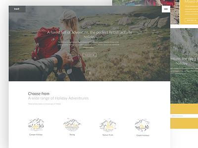 Travlr minimal clean design webpage page home