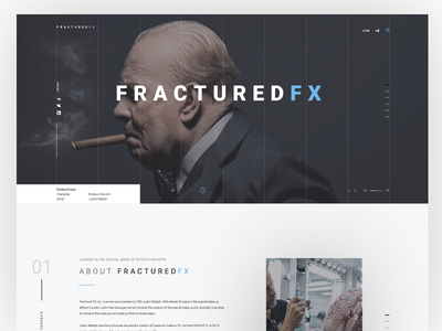 Fractured FX awesome clean web page home page