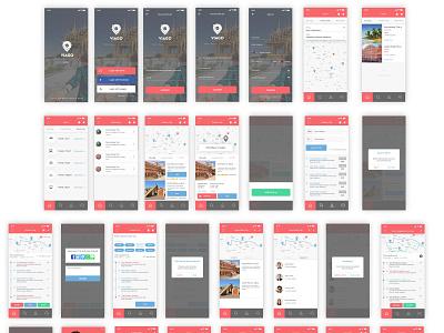 Viago Travel App clean app app design app concept