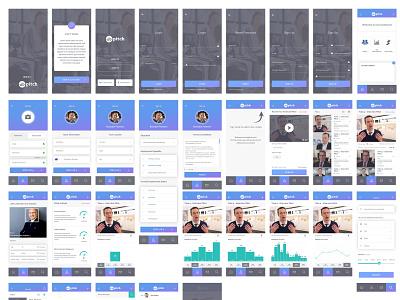 Elo Pitch App design minimal clean app